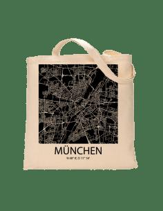 """Jutebeutel nature \\""""München Sky Block negativ\\"""" Zubehör & Geschenke 9,99 €"""