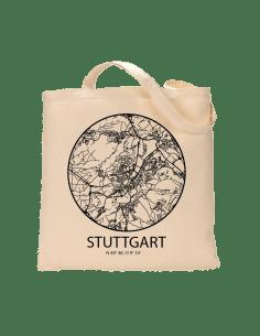 """Jutebeutel nature \\""""Stuttgart Sky Eye Kontur\\"""" Zubehör & Geschenke 9,99 €"""