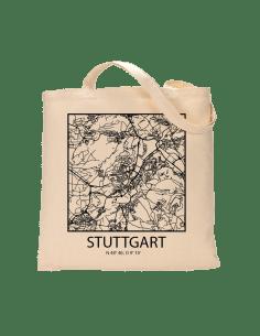 "Jutebeutel nature \\""Stuttgart Sky Block Kontur\\"" Zubehör & Geschenke 9,99 €"