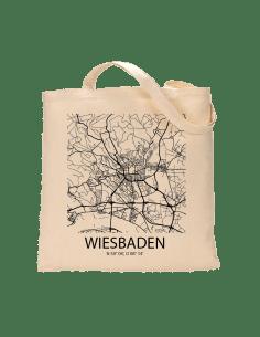"""Jutebeutel nature \\""""Wiesbaden Sky Block\\"""" Zubehör & Geschenke 9,99 €"""