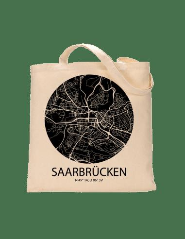 """Jutebeutel nature \\""""Saarbrücken Sky Eye negativ\\"""" Zubehör & Geschenke 9,99 €"""
