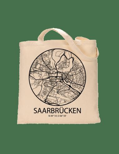 """Jutebeutel nature \\""""Saarbrücken Sky Eye Kontur\\"""" Zubehör & Geschenke 9,99 €"""