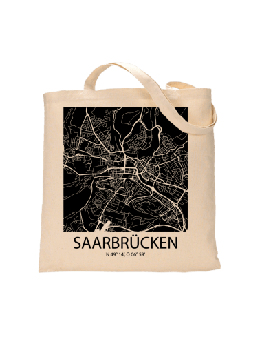 """Jutebeutel nature \\""""Saarbrücken Sky Block negativ\\"""" Zubehör & Geschenke 9,99 €"""