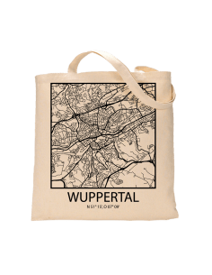 "Jutebeutel nature \\""Wuppertal Sky Block Kontur\\"" Zubehör & Geschenke 9,99 €"
