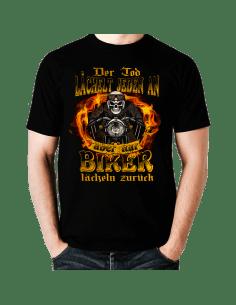 Der Tod lächelt jeden an - doch nur biker lächeln zurück T-Shirt Hoodie