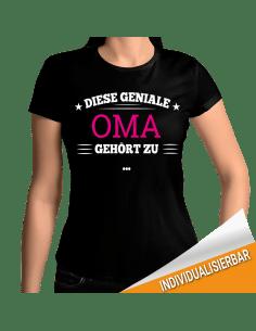 Diese geniale Oma gehört zu... T-Shirt Hoodie Baby & Familie  18,90 €