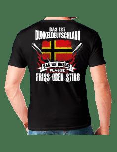 Das ist Dunkeldeutschland Wirmer Flagge T-Shirt Hoodie