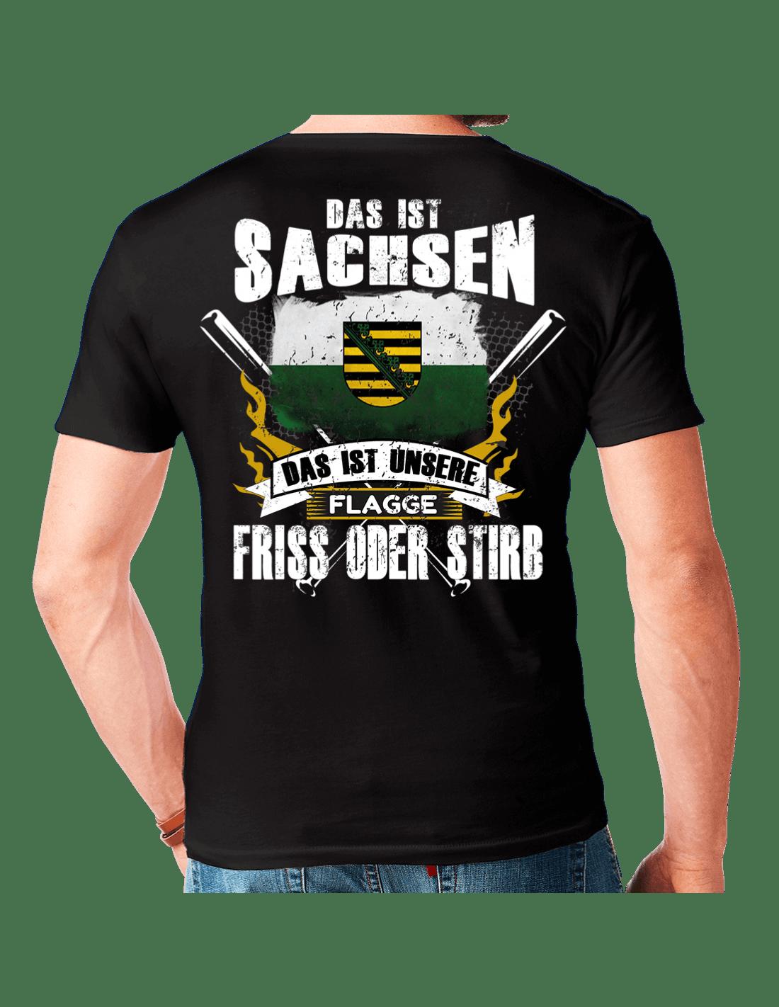 Für Heimat Das Aus T Shirt Patrioten Sachsen XZiOPku