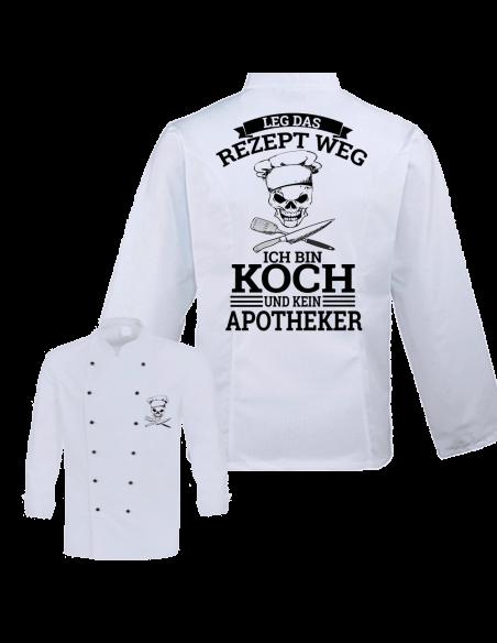Leg das Rezept weg ich bin Koch kein Apotheker Kochjacke Zubehör & Geschenke 59,90 €