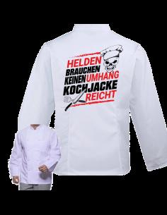 Helden brauchen keinen Umhang Kochjacke reicht - Kochjacke Zubehör & Geschenke 59,90 €