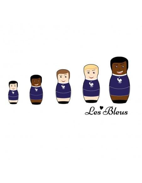 Frankreich Les Blues Matrjoschkas worldcup T-Shirt WM Shirts 18,90 €