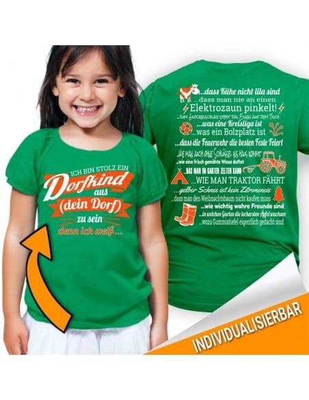 Ich bin stolz ein Dorfkind aus... zu sein - denn ich weiss...Kinder T-Shirt Hoodie Baby & Familie  14,90 €